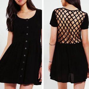 Urban outfitters evil twin black lattice dress